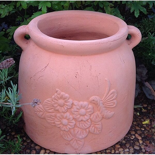 Pumphrey Hand Pressed Ancient Stressed Terracotta Pot Planter by August Grove