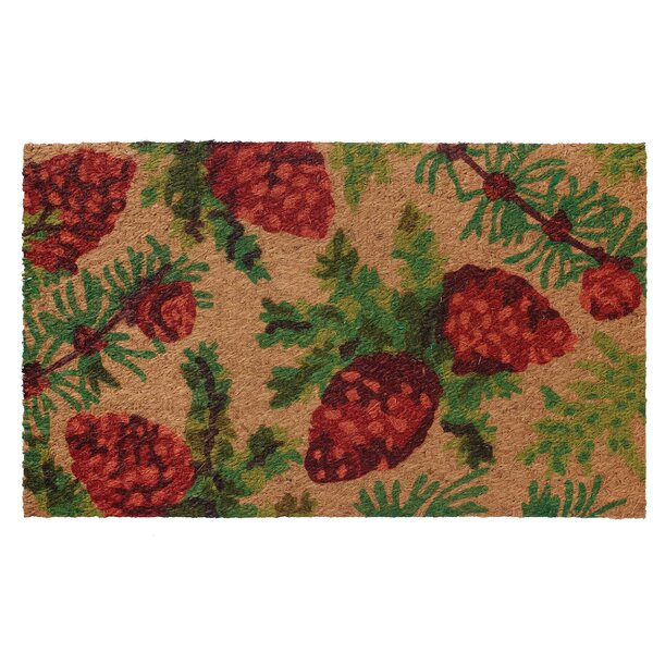 Low Profile Flatweave PineCone Doormat by Home Furnishings by Larry Traverso