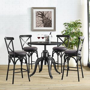 Hardev 5 Piece Pub Table Set by 17 Stories
