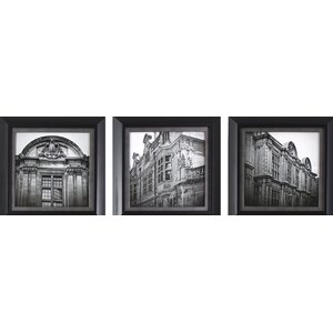 'European Architecture' 3 Piece Framed Photographic Print Set by Alcott Hill