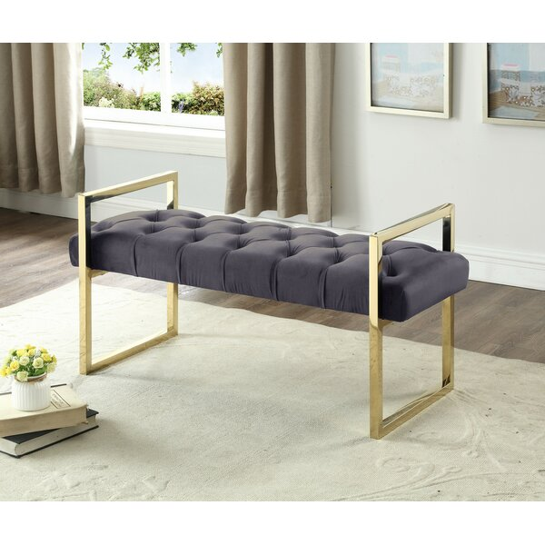 Emelle Upholstered Bench by Everly Quinn