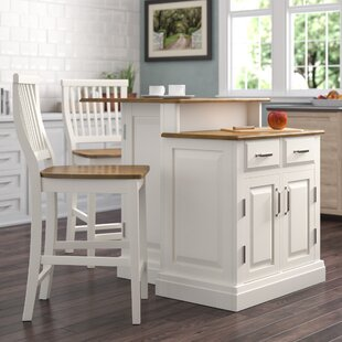 Susana 3 Piece Kitchen Island Set with Wood Top by DarHome Co