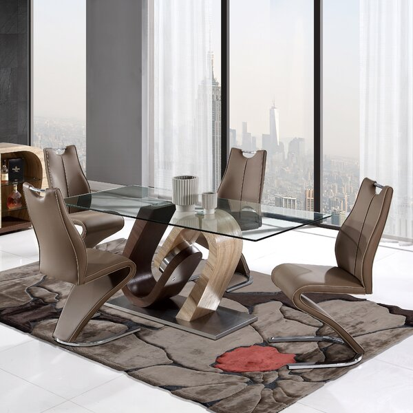 Gaston 5 Piece Dining Set by Wade Logan