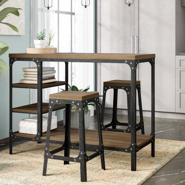 Terence 3 Piece Counter Height Dining Set by Williston Forge
