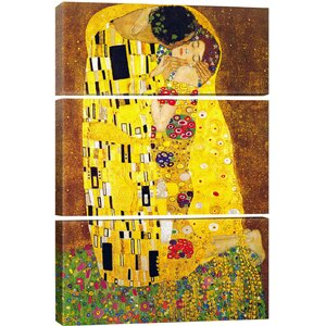 The Kiss by Gustav Klimt Painting Print on Canvas by iCanvas