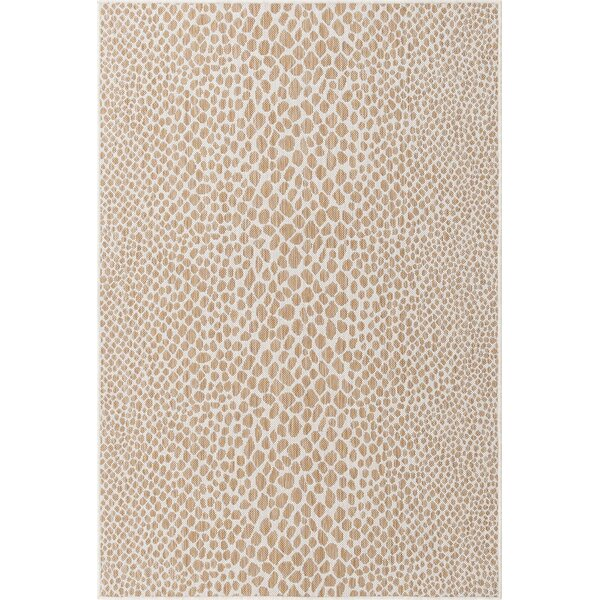 Amadis Abstract Beige Indoor/Outdoor Area Rug