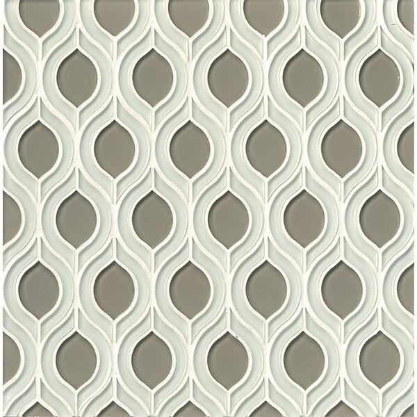La Palma Glass Mosaic Tile in White / Pebble by Grayson Martin