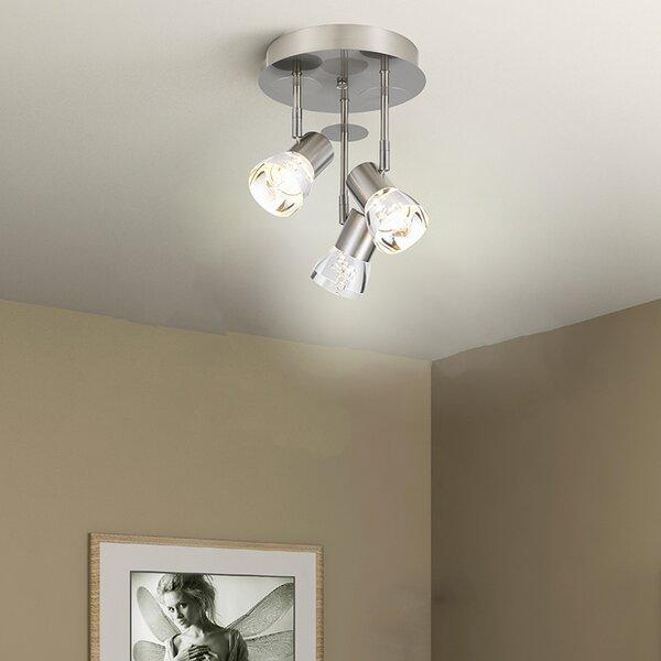 Penaflor 3-Light LED Semi Flush Mount by Orren Ellis