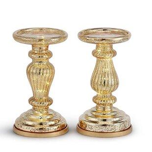 Gold Mercury Glass Candle Holders Wayfair