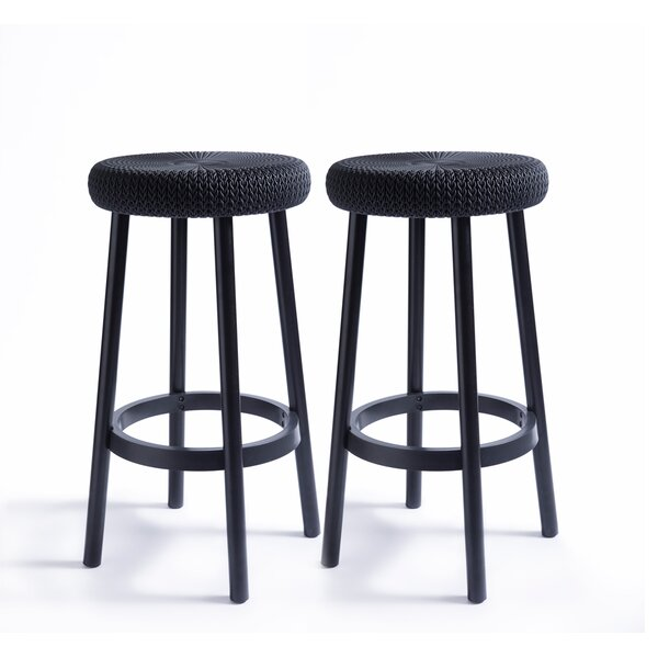 Cozy 26-inch Patio Bar Stool (Set Of 2) By Keter