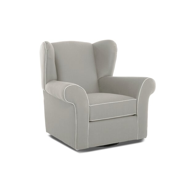 Dorsey Swivel Glider with Contrasting Welt by Wayfair Custom Upholstery™
