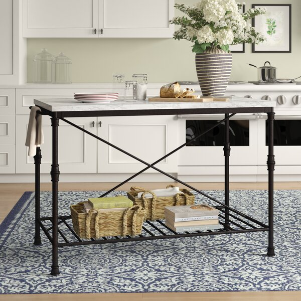 Castille Prep Table with Marble Top by Birch Lane™ Heritage