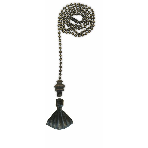 Fan Pull Chain with Seashell Finial by Royal Designs