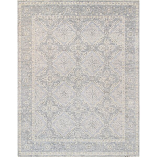 Hand-Knotted Gray/Beige Area Rug by Pasargad