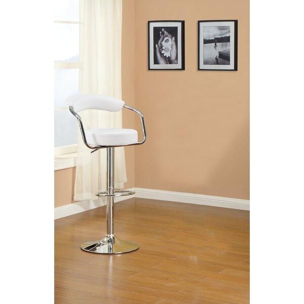 Duplantis Adjustable Height Swivel Bar Stool (Set of 2) by Orren Ellis