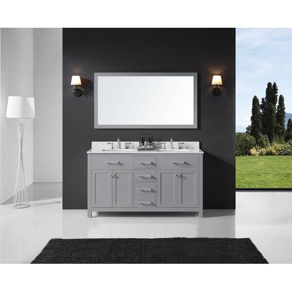 Palacios 60 Double Bathroom Vanity Set with Mirror