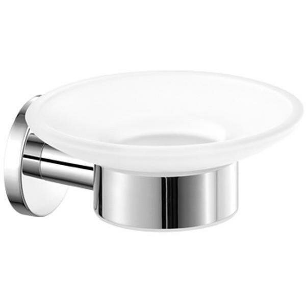 Skiles Wall Mounted Frosted Glass Soap Dish by Orren Ellis