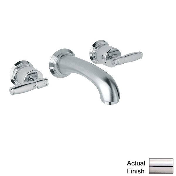 Zephyr Double Handle Wall Mounted Spout Tub Filler with Lever Handle by Rohl