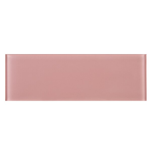 4 x 12 Glass Subway Tile in Pink by Multile
