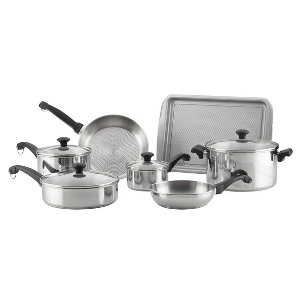 Classic Traditions 12 Piece Stainless Steel Cookware Set by Farberware