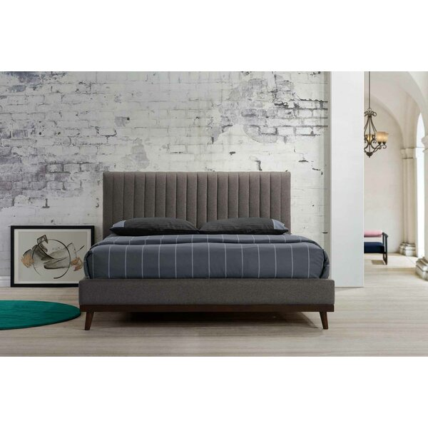 Kevin Roxanna Queen Upholstered Platform Bed by Modern Rustic Interiors