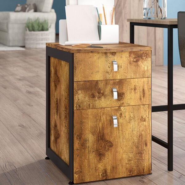 Enes 3 Drawer Mobile Vertical Filing Cabinet by Laurel Foundry Modern Farmhouse