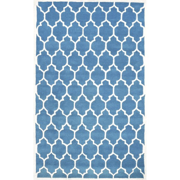 Venice Hand-Tufted Wool Light Blue Area Rug by nuLOOM