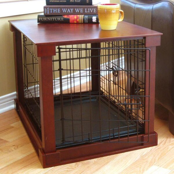 Ansel Deluxe Pet Crate In Brown By Archie Oscar.
