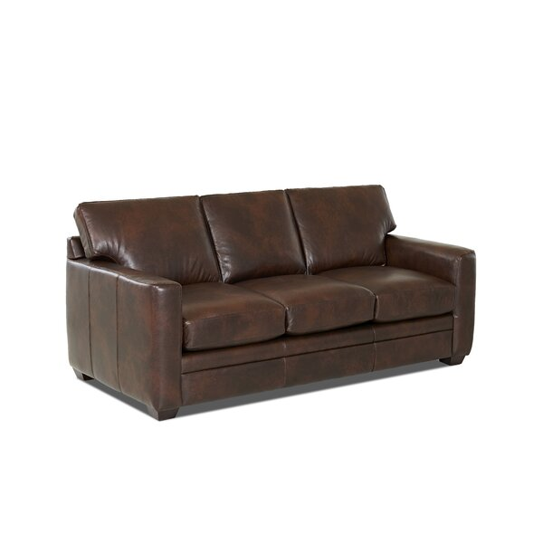 Carleton Leather Sofa by Wayfair Custom Upholstery™