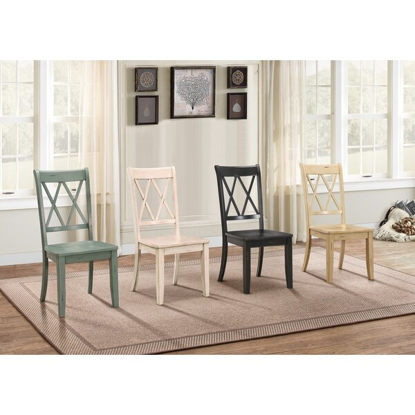 Cheryll Solid Wood Cross Back Side Chair (Set Of 2) By Laurel Foundry Modern Farmhouse