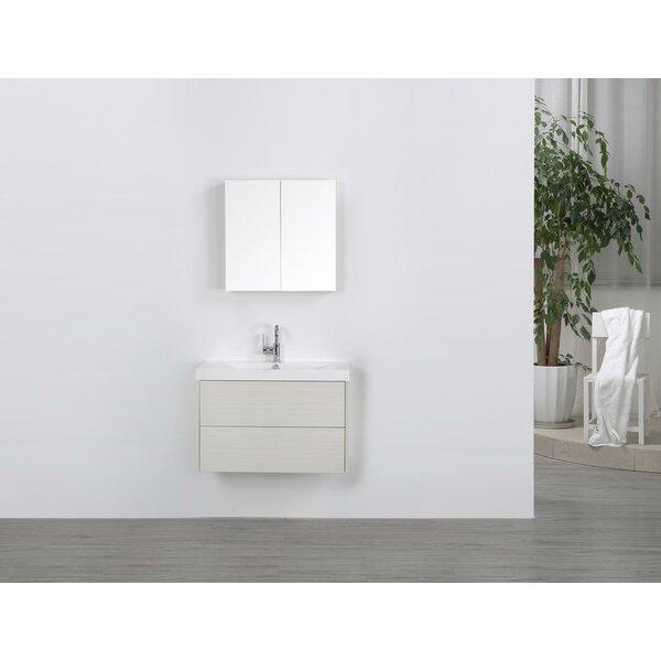 32 Wall-Mounted Single Bathroom Vanity Set with Mirror by Streamline Bath