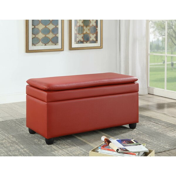 Cosey Faux Leather Storage Bench By Red Barrel Studio®