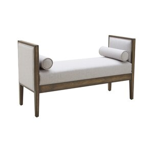 5West Pietro Two Seat Upholstered Bench by Sunpan Modern