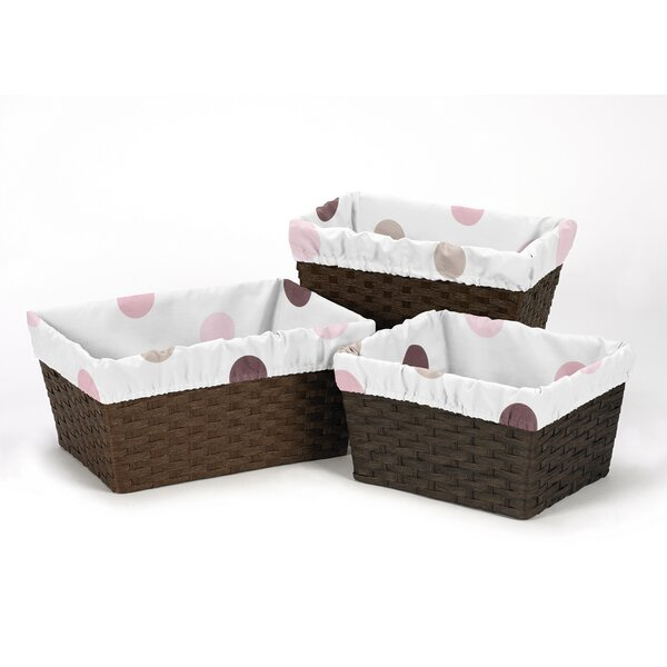Mod Dots Basket Liners by Sweet Jojo Designs