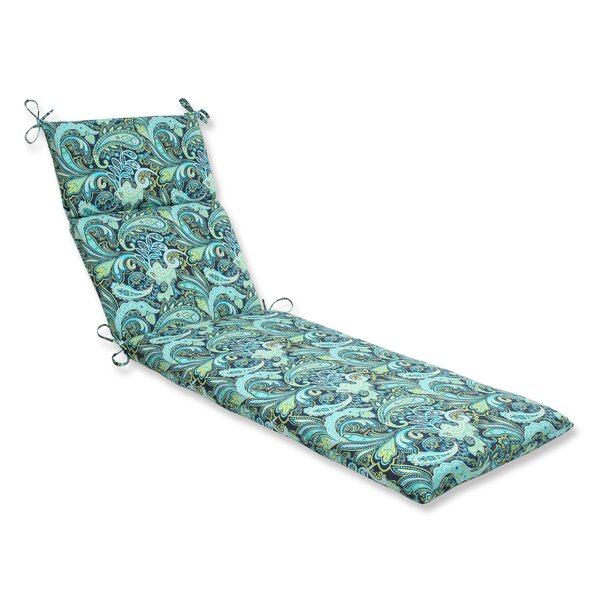 Pretty Indoor/Outdoor Chaise Lounge Cushion by Pillow Perfect