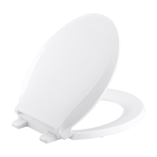 non slam toilet seat. Kohler Cachet Quiet Close with Grip Tight Round Front Toilet Seat  Reviews Wayfair