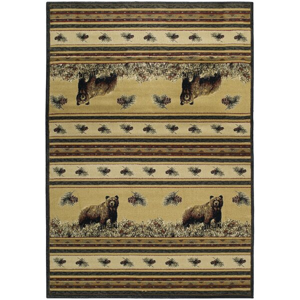 Marshfield Pine Creek Bear Novelty Area Rug by Marshfield