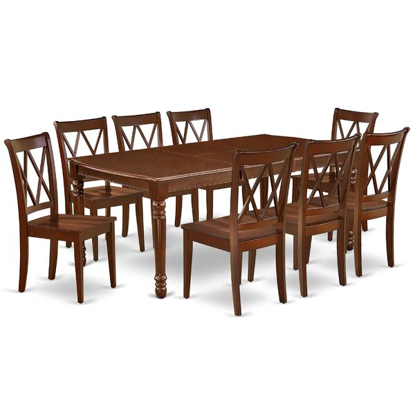 Kulick 9 Piece Extendable Solid Wood Dining Set by August Grove August Grove