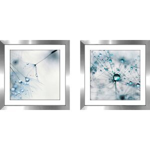 'Baby Blue' 2 Piece Framed Photographic Print Set by Latitude Run