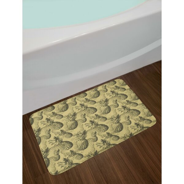 Pineapple Bath Rug by East Urban Home