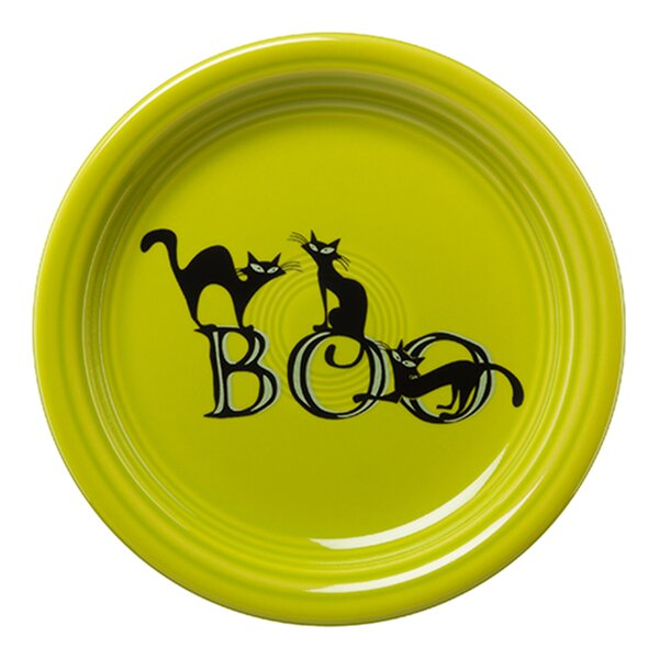 Trio of Boo Cats 6.5 Appetizer Plate by Fiesta