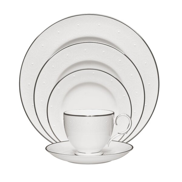 Ventina 5 Piece Bone China Place Setting Set, Service for 1 by Noritake