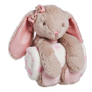 Best Reviews Helle Cuddly Rabbit Stuffed Animal Blanket Gift Set ByViv + Rae