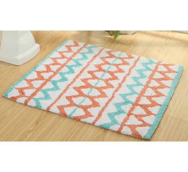 Dunecrest Aztec Vibrant Children Bath Rug by Harriet Bee