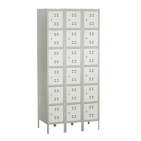 6 Tier 3 Wide Employee Locker by Safco Products Company