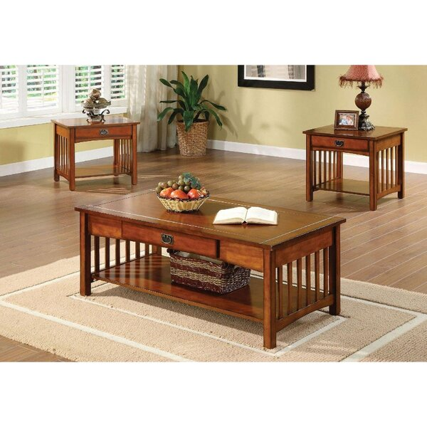 Corso 3 Piece Coffee Table Set by Millwood Pines Millwood Pines