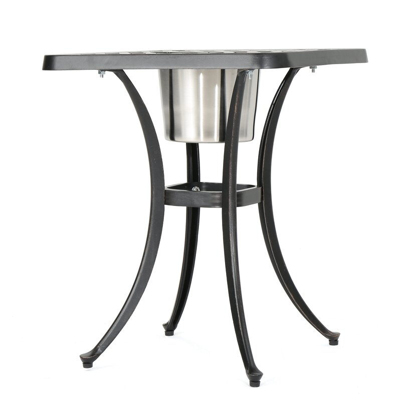 Andover Mills Parramore Cast Aluminum Bistro Table Wayfair