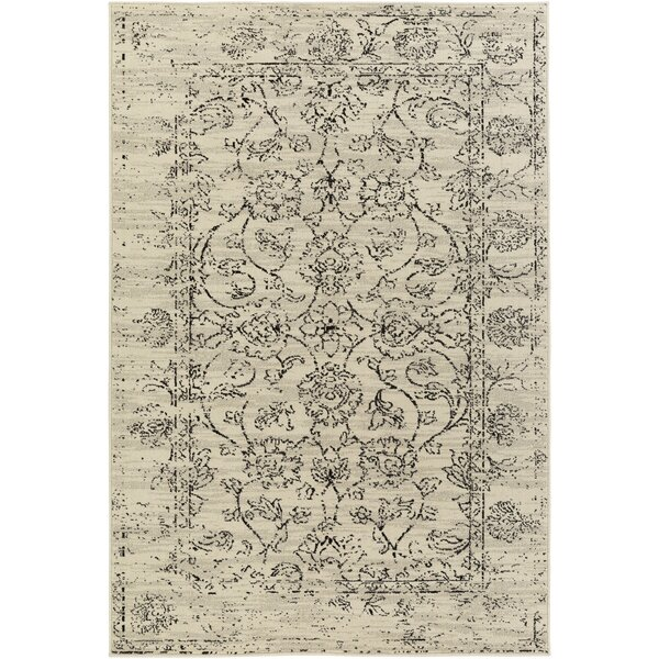 Tierney Cream/Black Area Rug by Mistana