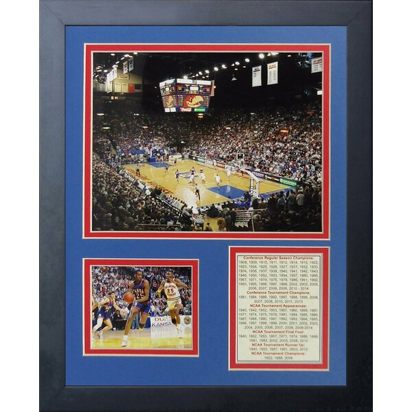 Allen Fieldhouse Old - Kansas Jayhawks Framed Memorabilia by Legends Never Die