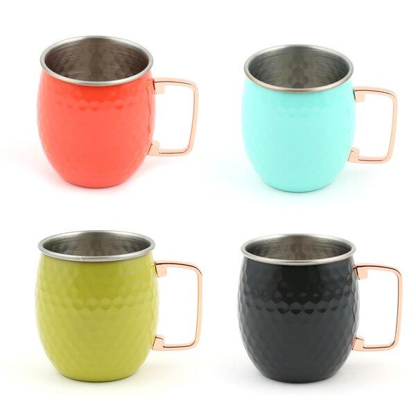 Moscow Mule 20 oz. Stainless Steel Mug (Set of 4) by Fiesta